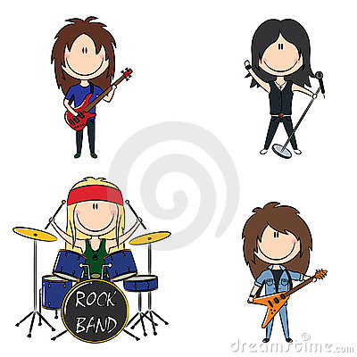 400x400 Rock And Roll Band Clipart