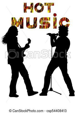 317x470 Rock Musician Eight. Musical Group People In Concert On Vector