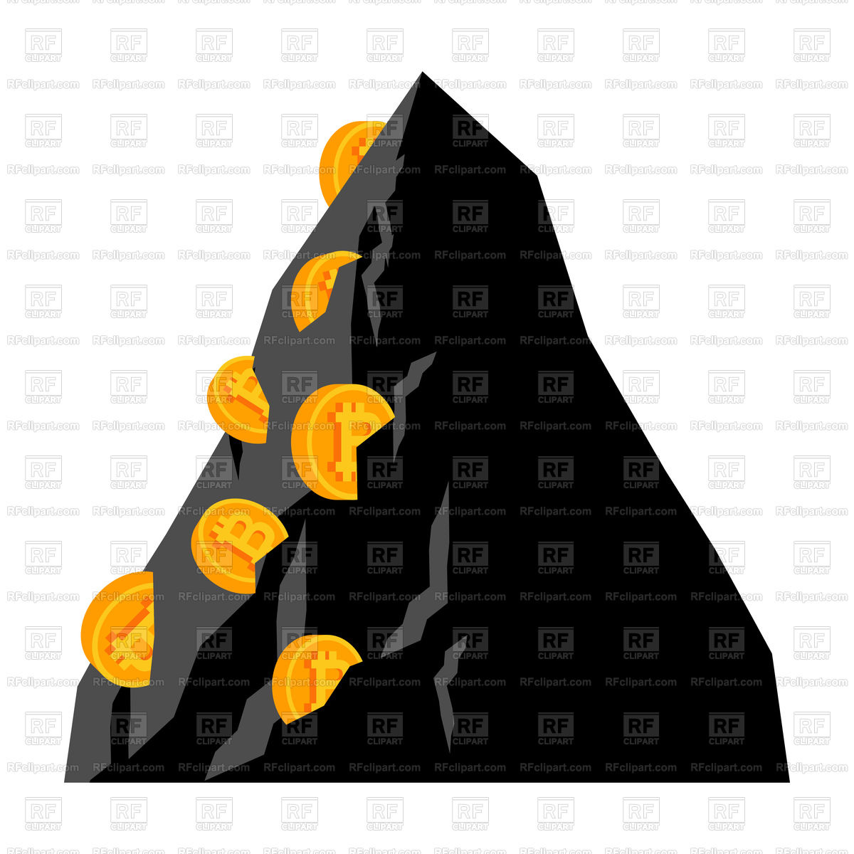 1200x1200 Mining Bitcoin In Rock. Extraction Cryptocurrency. Royalty Free