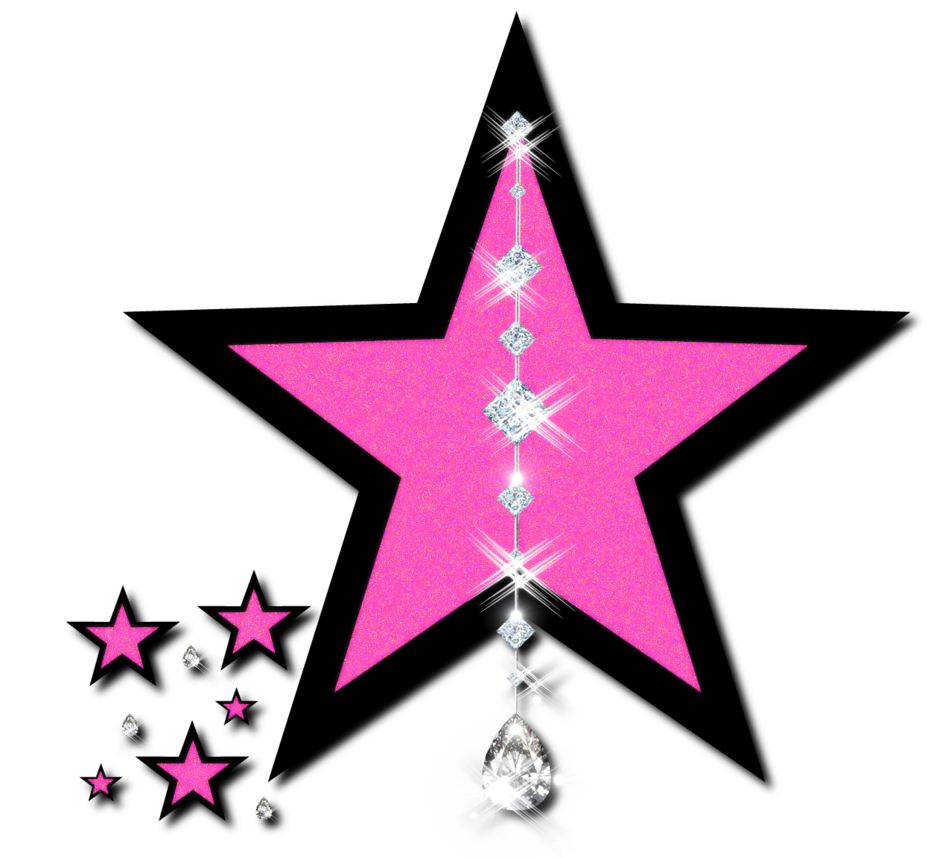 931x858 Pink Perfection Black Star, Clip Art And Star