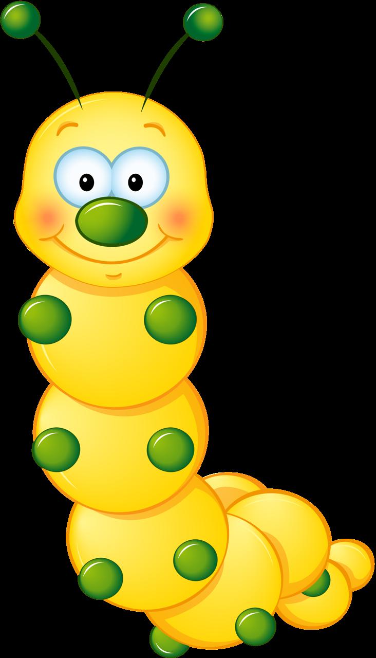 732x1280 Yellow Cute Caterpillar Clipart Rovarok,