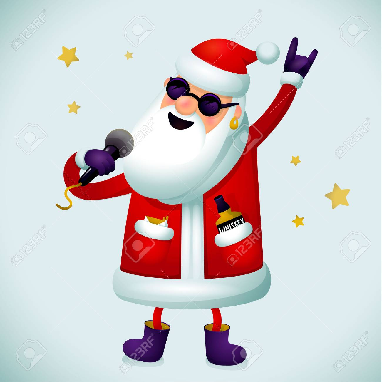 1300x1300 Rock N Roll Santa Claus Clipart Amp Rock N Roll Santa Claus Clip Art