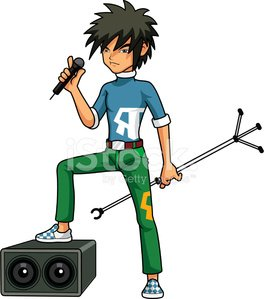 264x299 Rock And Roll Cartoon Premium Clipart