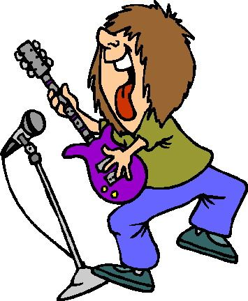 355x432 Awesome Rockstar Cartoon Rock