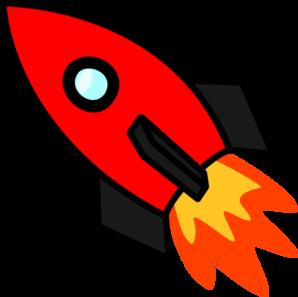298x297 Red Rocket Clip Art