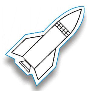 300x300 Rocket Outline Clip Art
