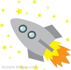 300x293 Clip Art Of A Rocket With Stars