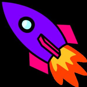 298x297 Rocket Purple Clip Art