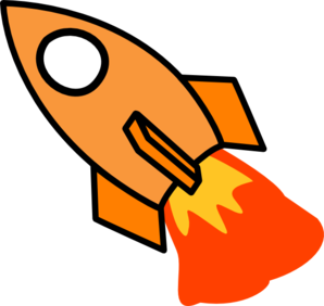 298x282 Rocket Launch Clip Art Clipart Image