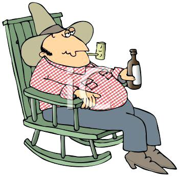 350x345 Frog Rocking Chair Royalty Free Clip Art Image Hillbilly Man
