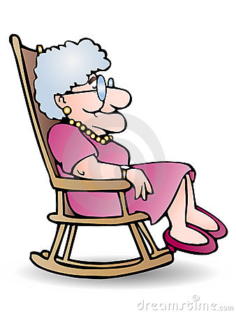 338x450 Grandmother Rocking Chair Clipart