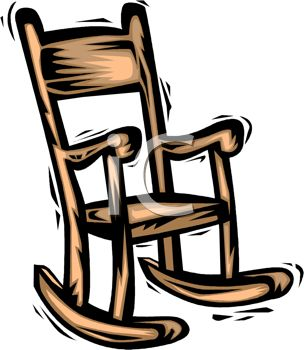 304x350 Picture Of A Cartoon Wooden Rocking Chair In A Vector Clip Art