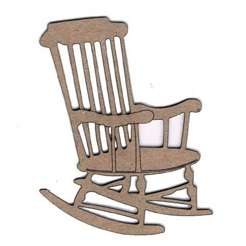 480x480 Rocking Chair On Porch Clipart