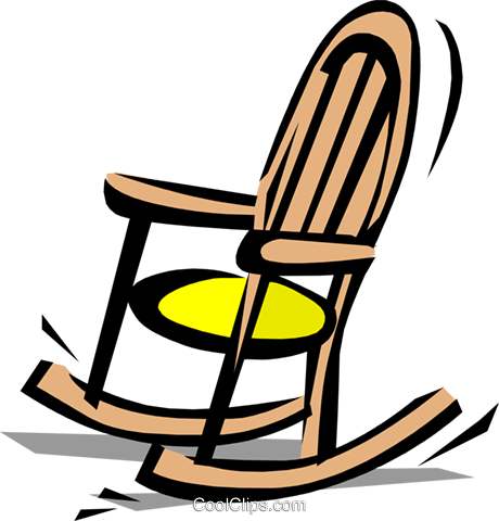 460x480 Rocking Chair Royalty Free Vector Clip Art Illustration Hous0444