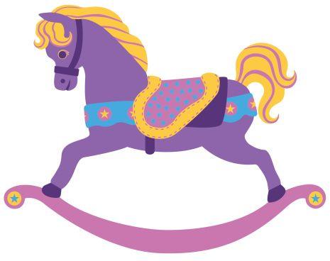 465x368 Carousel Style Rocking Horse With Saddle. Rocking Horses, Clip