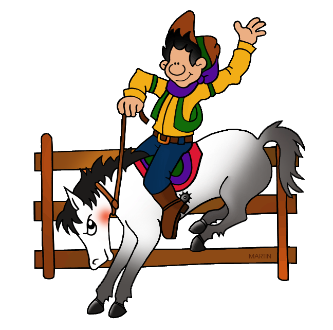 648x641 Occupations Clip Art By Phillip Martin, Rodeo Cowboy