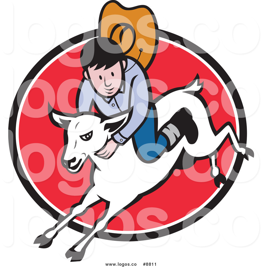 1024x1044 Royalty Free Clip Art Vector Logo Of A Junior Rodeo Cowboy Riding