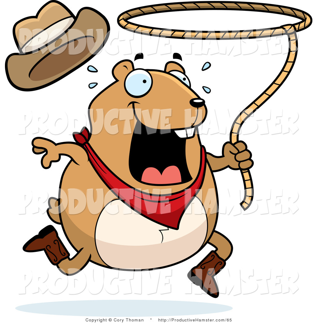 1024x1044 Clip Art Of A Rodeo Pet Hamster Swinging A Lasso By Cory Thoman