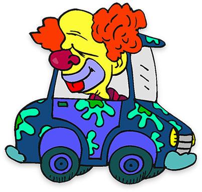 403x382 Clipart Clown Car Collection