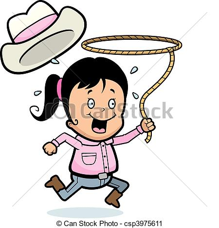 450x470 Rodeo Girl Clipart