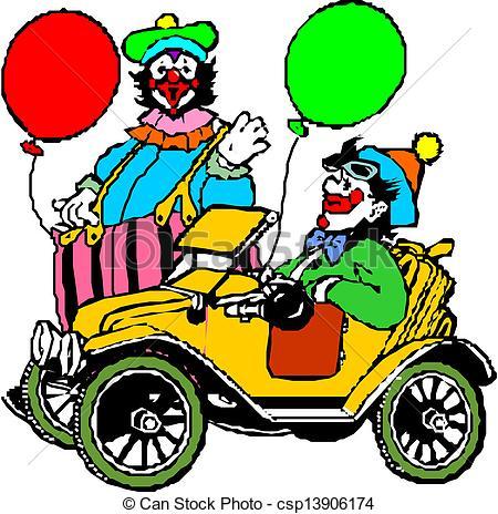 450x464 Clipart Clown Car