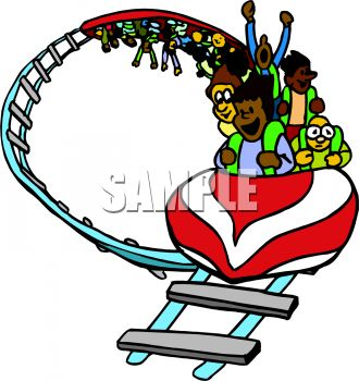 330x350 Royalty Free Clip Art Image Roller Coaster Going Upside Down