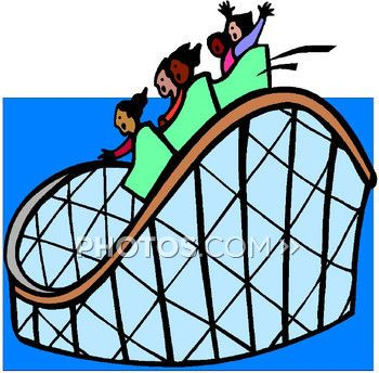 350x344 Nice Rollercoaster Clipart