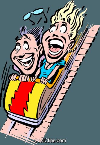 331x480 Cartoon Roller Coaster Royalty Free Vector Clip Art Illustration