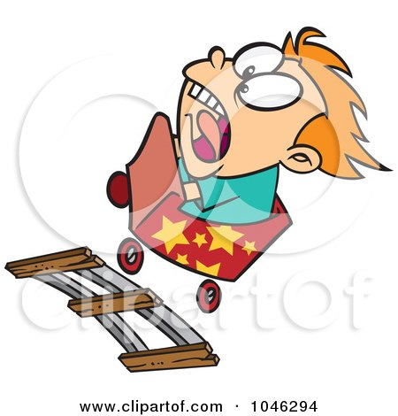 450x470 Clipart Outlined Scared Girl On A Roller Coaster
