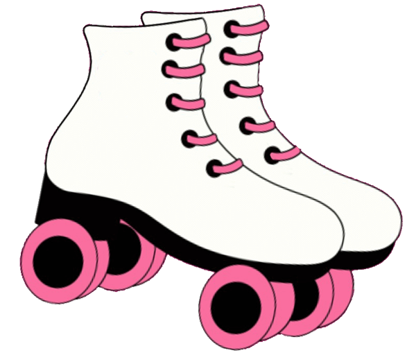 photograph relating to Free Printable Roller Skate Template called Roller Derby Clipart at  No cost for unique