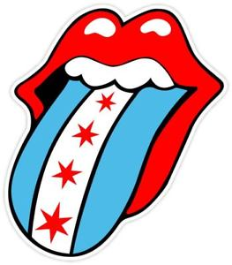 263x300 Rolling Stones Chicago Flag Fan Sticker Decal Vinyl Window Bumper
