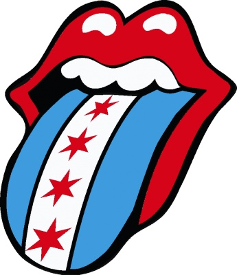 345x400 Tongue Clipart Rolling Stones#3998920