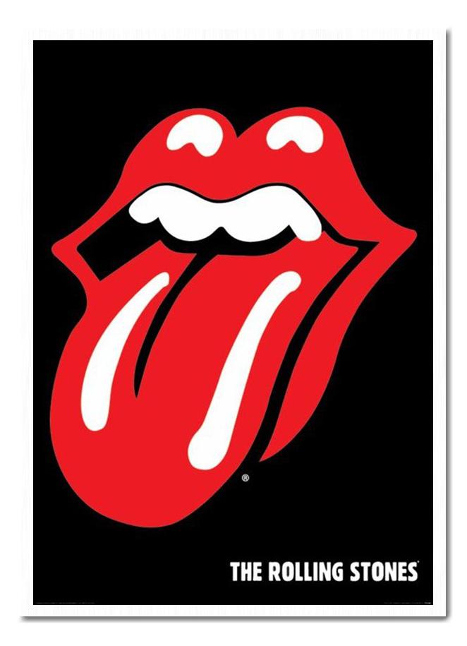 662x915 Framed The Rolling Stones Lips Logo Poster New Ebay