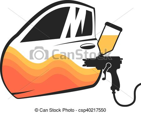450x362 Painting Cars Vector For Business, And Spray The Car Door Clipart