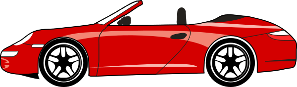 600x176 Red Car Party Clip Art