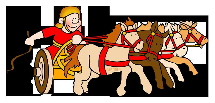 722x346 Rome Clip Art By Phillip Martin, Roman Chariot