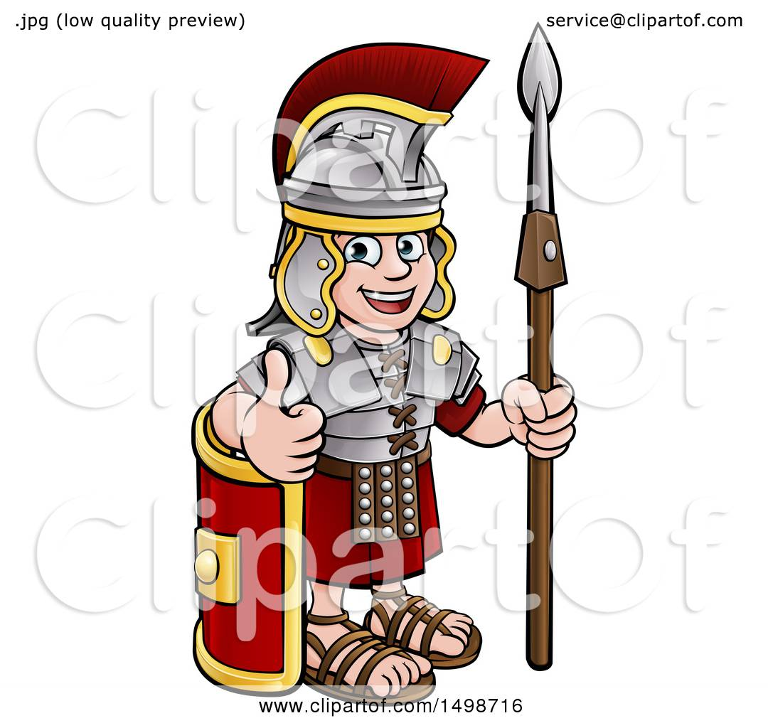 1080x1024 Clipart Of A Cartoon Happy Roman Soldier Giving A Thumb Up