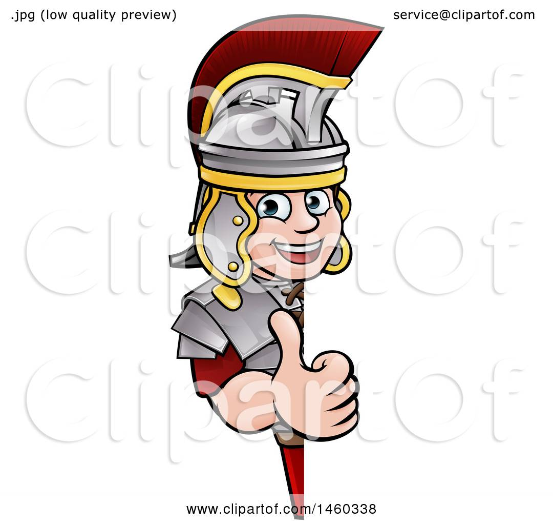 1080x1024 Clipart Of A Cartoon Happy Roman Soldier Giving A Thumb Up Around