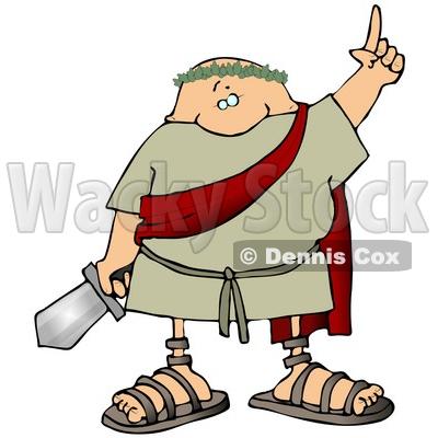 400x400 Roman Archer Soldier Shooting An Arrow Clipart Djart