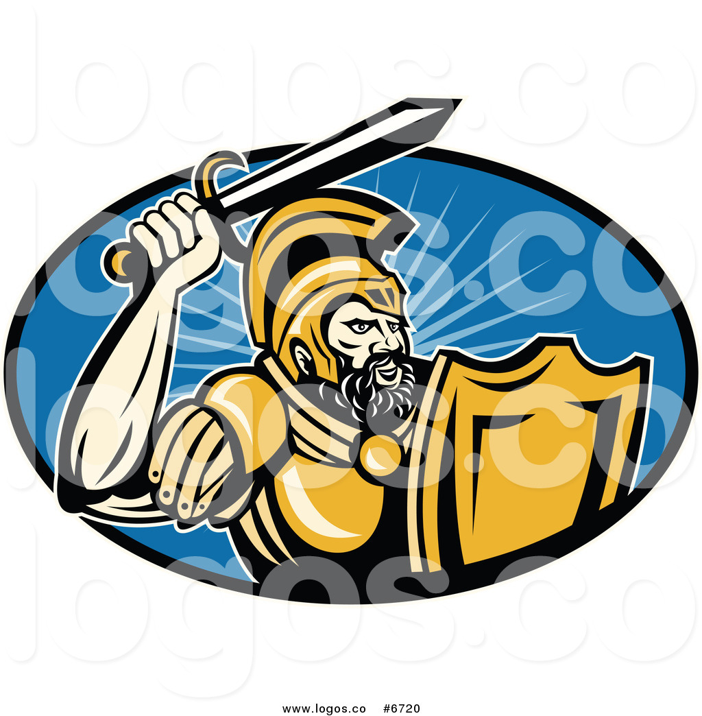1024x1044 Royalty Free Clip Art Vector Logo Of A Roman Soldier Holding Up