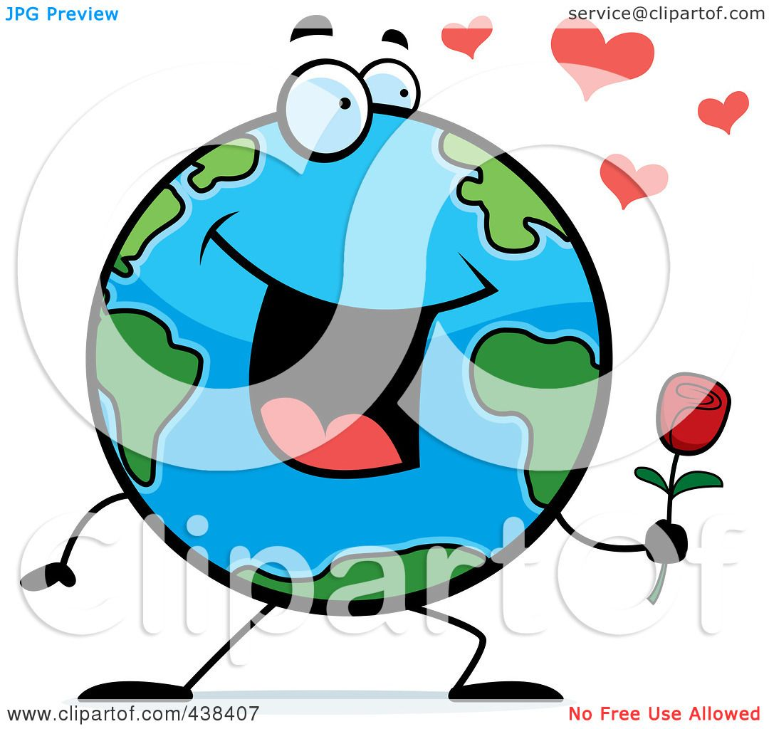 1080x1024 Royalty Free (Rf) Clipart Illustration Of A Romantic Globe Holding