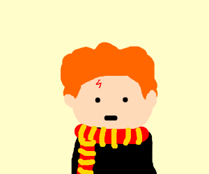 300x250 Ron Weasley But He Has Harry's Scar