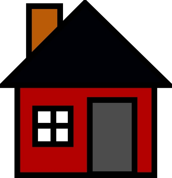 576x594 House Open Roof Clipart