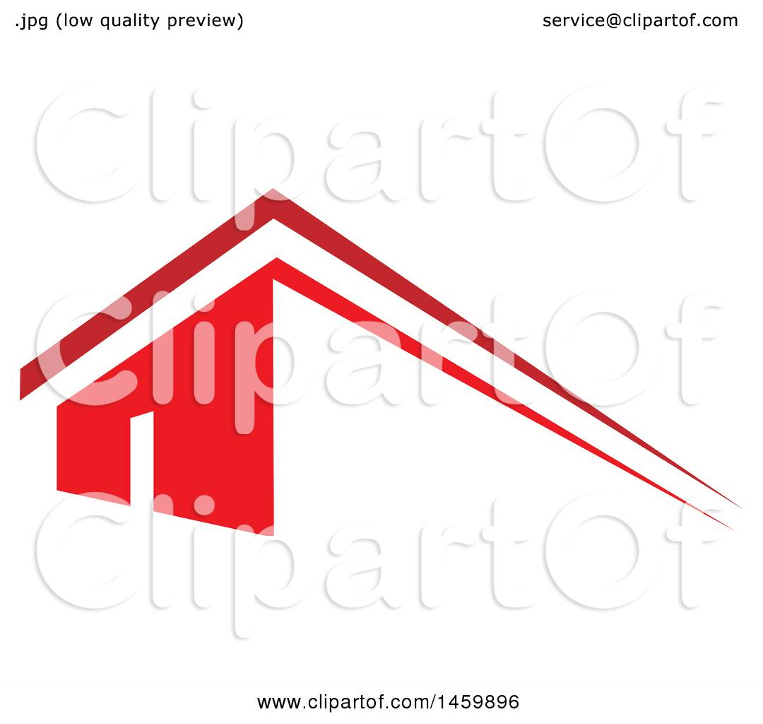 1080x1024 Clipart Of A Red House And Roof Top
