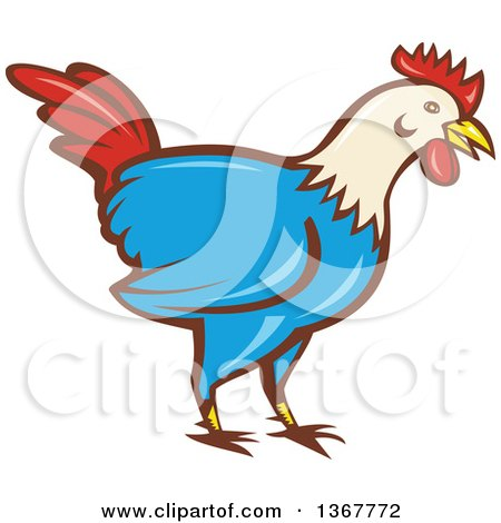 450x470 Clay Sculpture Clipart Colorful Rooster
