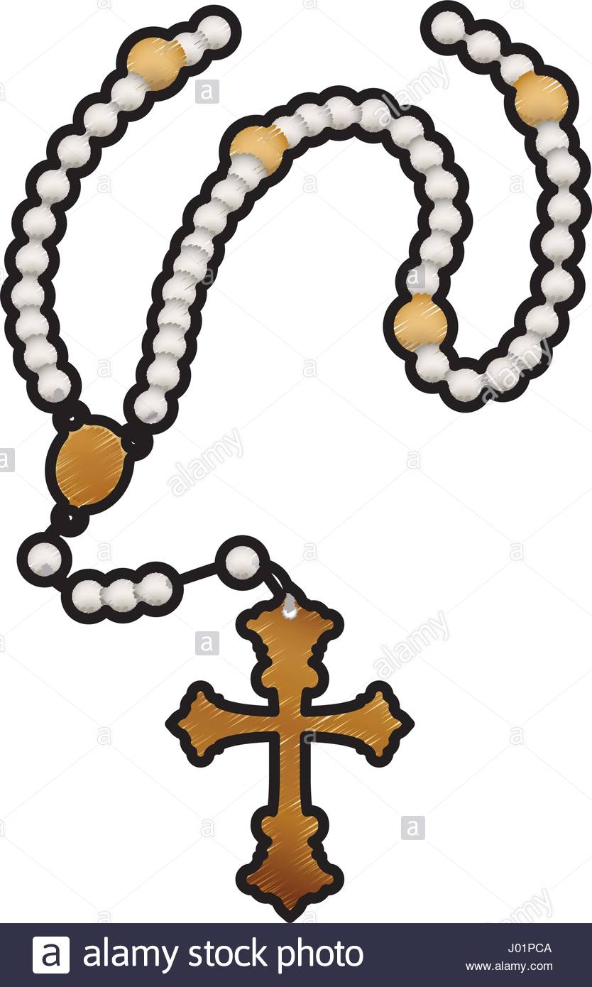 834x1390 Jesus Necklace Stock Vector Images