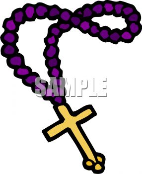 286x350 Rosary Beads With A Gold Cross