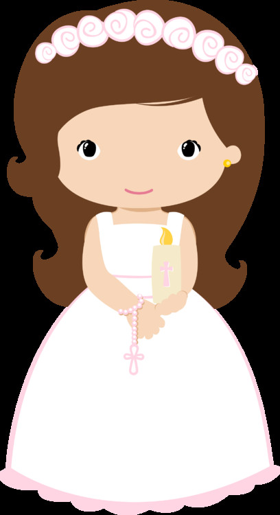 408x750 Awesome First Communion Clip Art First Munion Girl With Candle