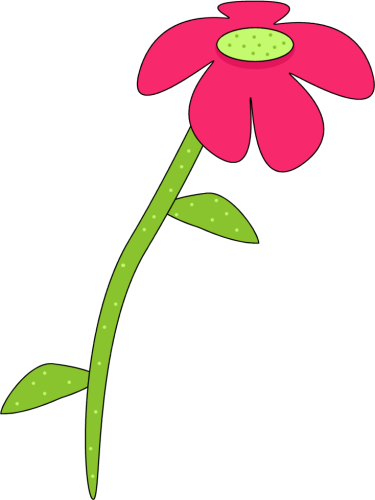 375x500 Pink Rose Clipart Stalk