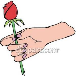 300x300 A Hand Holding A Rose Bud